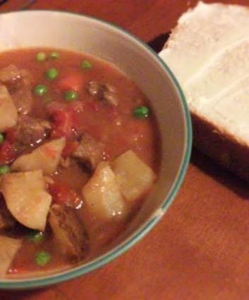 Last night's beef stew.